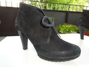 Details zu PAUL GREEN Damen Schuhe Plateau Stiefeletten Leder Nubuk Austria Gr.39(6) TOP