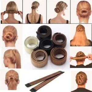 Magic-Clip-Foam-Donut-Hair-Styling-Bun-Curler-Tool-Maker-Ring-Twist-DIY-Hair