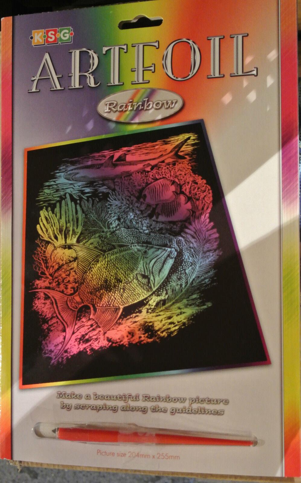 KSG Artfoil Rainbow Sealife Craft Kit 0544