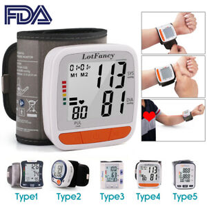 Fully-Digital-Wrist-Blood-Pressure-Monitor-with-BP-Cuff-for-Home-Use-Large-LCD
