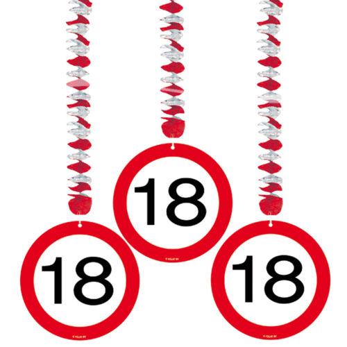 Geburtstag Dekopaket Dekoration Partyzubehör 41 tlg Set Partyset zum 18ten 18