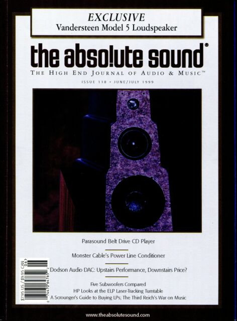 TAS  The Absolute Sound : The High End Journal - Issue 118 (1999) Audiophile mag