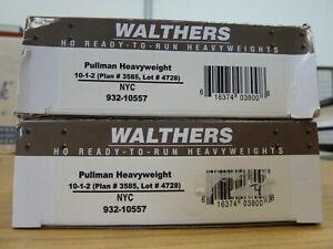 Walthers-HO-Scale-NYC-Heavyweight-Sleepers-10-1-2-x2