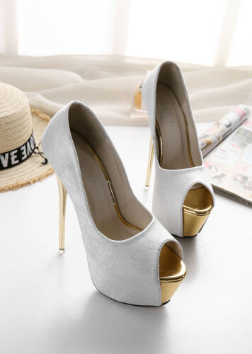Drag Queen Peep Toe Pumps Platform Heels Mens Crossdresser Women Shoes Plus Size