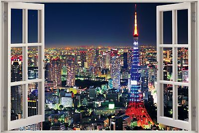huge 3d window view new york city wall sticker film mural decal wallpaper 1153 ebay