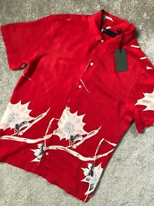 ALL-SAINTS-TSURU-RED-034-MOKAPU-034-FLORAL-VISCOSE-S-S-SHIRT-TOP-XS-S-M-L-XXL-NEW-TAGS