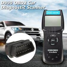 LCD Car Diagnostic Scanner Auto Engine Fault Code Reader OBD2 OBD 2 II Scan Tool