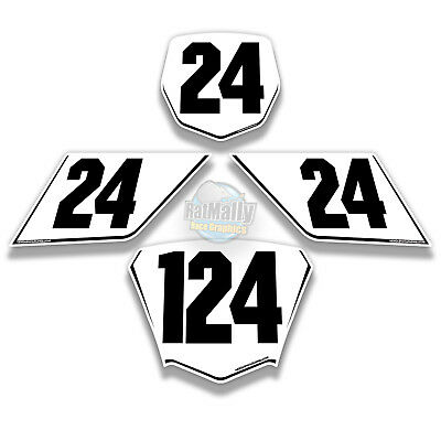 RACE NUMBER BOARDS WRAP GRAPHICS STICKERS TO FIT BMW S1000RR all models