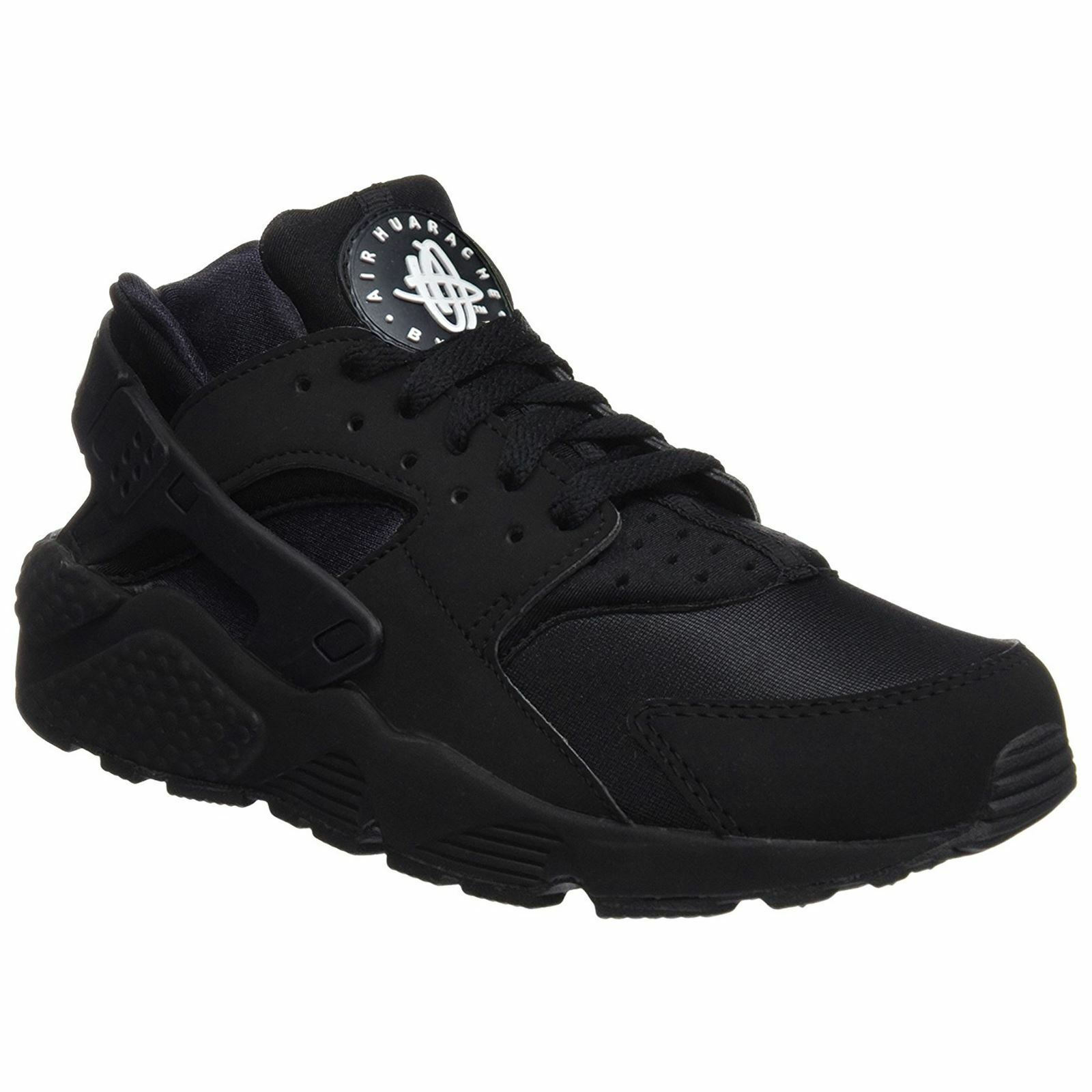 Nike Air Huarache Black Mens Mesh Lace-Up Running Sneakers Trainers
