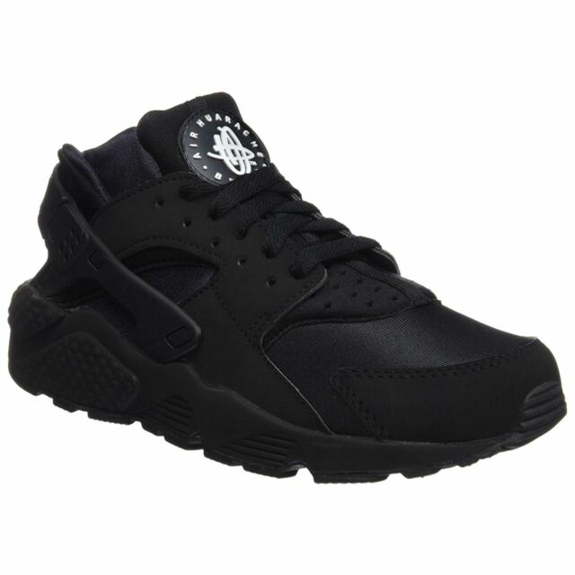official photos 9a8f5 04668 Nike Air Huarache Black Mens Mesh Lace-Up Running Sneakers Trainers