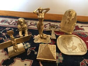 Ancient Egyptian 7 piece Collectible Figurine set! LOOK!