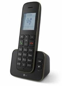 Telekom-Sinus-A-207-DECT-Telefon-Schwarz-Anrufer-Identifikation-Plug-Type-C-E