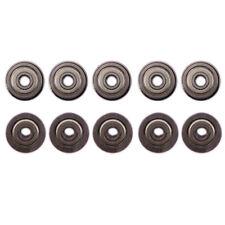 Us Stock 10pcs F624zz Mini Metal Double Shielded Flanged Ball Bearings 4x13x5mm