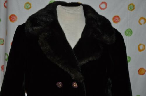Faux Joseph Fur og Coat Chic Kvinder Dubrowsky Black Medium Luxurious wtqaCE
