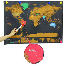 Scratch off world map deluxe edition travel poster personalized deluxe travel world map edition scratch off poster personalized journal log gift gumiabroncs Images