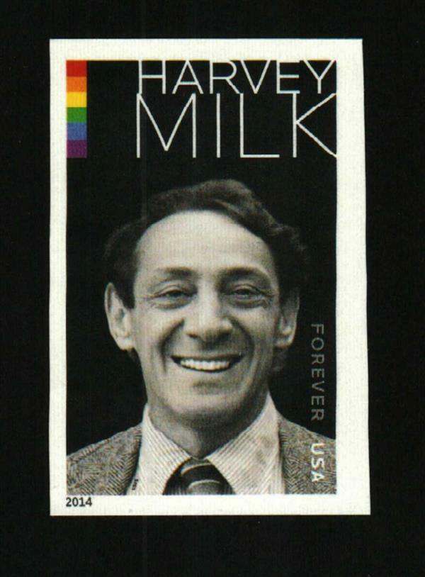 2014 49c Harvey Milk, American Politician, Imperforate