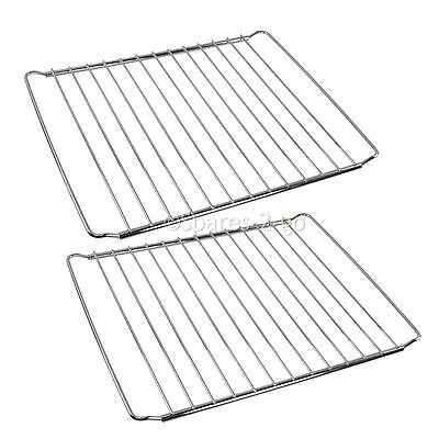 2 x Adjustable Stainless Steel Oven Shelves Grill Shelf Fits ZANUSSI 345-565mm