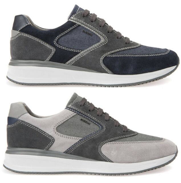 GEOX Uomo Winfred C Suede Navy Scarpe Sneakers Man