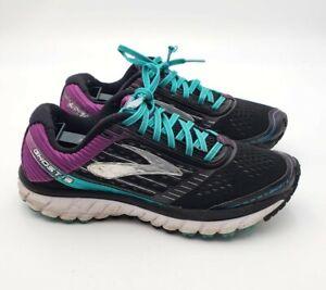 Brooks-Women-039-s-Sz-8-5-Ghost-9-Athletic-Running-Shoes-Sneakers-Black-Purple-169