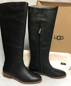 772bedb7427 Details about Ugg Australia Gracen Whipstitch Black 1019086 Boots Leather  sizes Women's