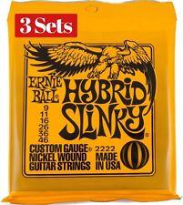 3 x Sets Ernie Ball Hybrid Slinky Nickel Wound 009 046 Electric Guitar Strings