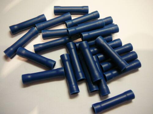 BLUE SPLICE TERMINALS BUTT CONNECTORS CRIMPS PACK OF 100