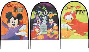 Disney Mickey And Friends Halloween Fabric Tombstone Decoration Set