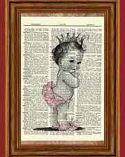 Vintage Baby Dictionary Art Print Picture Nursery Decoration Decor Newborn Ooak