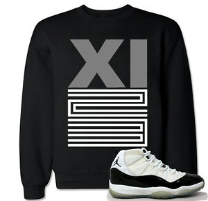 af400851ab0851 XI 23 Grey Sweater to match with Jordan 11 Retro 11 Concord Black ...