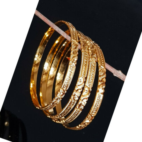 Indian Jewelry Polki bracelet bangle set Gold plated Wedding Bangles Set  2.10
