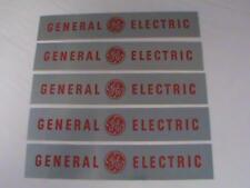 Vintage 5pc Lot General Electric Metal Logo Plate Peel Stick Logo Label Rare NOS