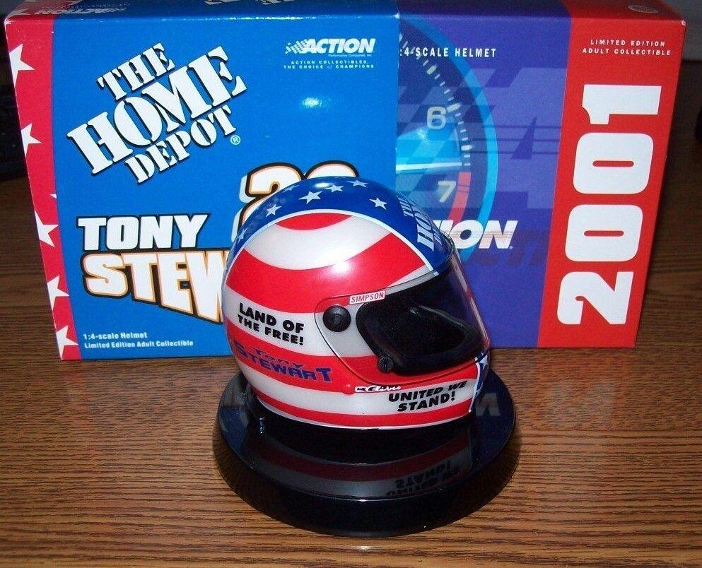 TONY STEWART STARS & STRIPES 2001 ACTION 1 4 MINI HELMET 2000 2004 MADE