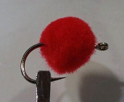 1 DZN Glow Bug Size 10 Salmon Steelhead Trout Wet Fly Orange