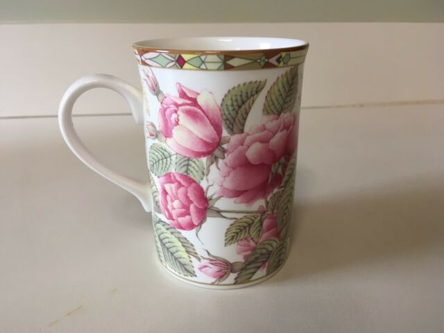 4 Noble Coffee Mugs Coffee Cups Teacups Porcelain Series Rose Edition Roses