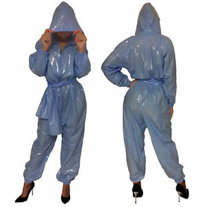 Suave-PVC-Correpasillos-mono-traje-Sudadero-mirada-de-pintura-Pelele-braga-panal