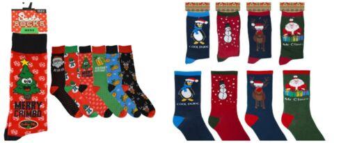 Nouveauté Homme Chaussettes de Noël Xmas fun Stocking Filler Secret Santa