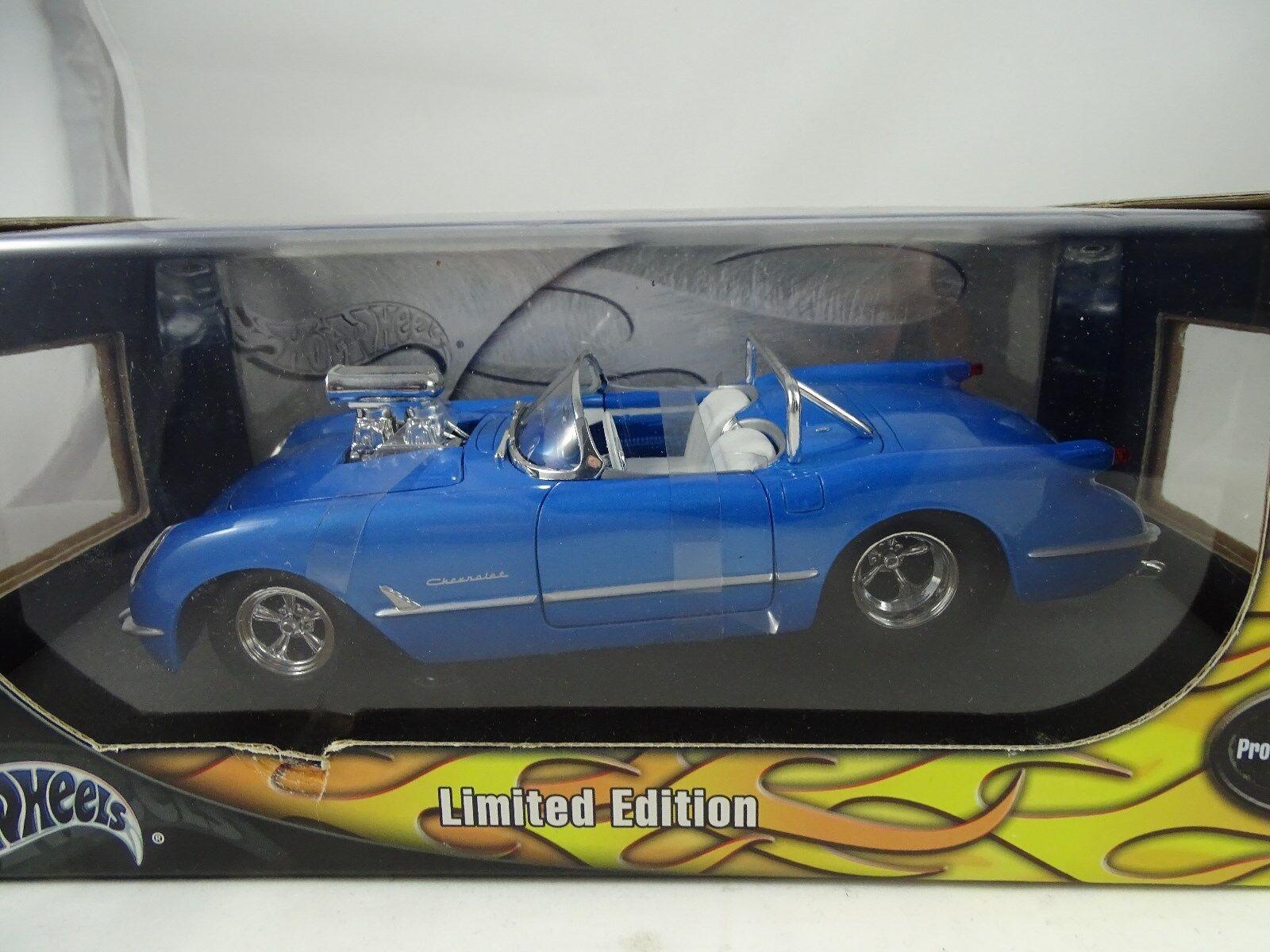 1 18 Hot Wheels 1953 Corvette Modified Pro Streeet Blau Limited Edition Rarity §