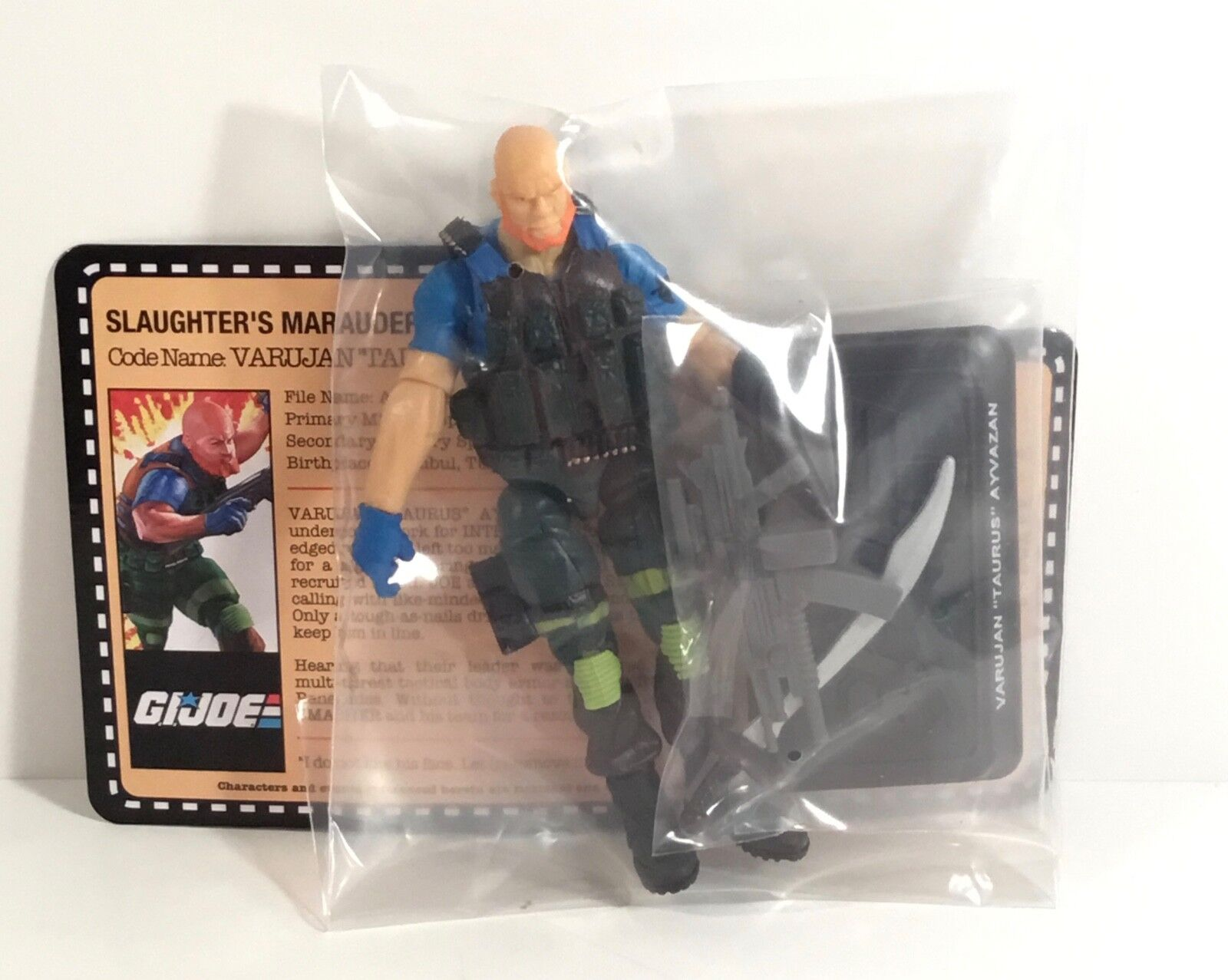 GI Joe Taurus action figure Slaughter's Renegades 2018 Joecon Club Marauders