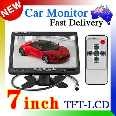"""7"""" inch TFT LCD Color Car Rear View Headrest Monitor For Car Reversing Camera AU"""