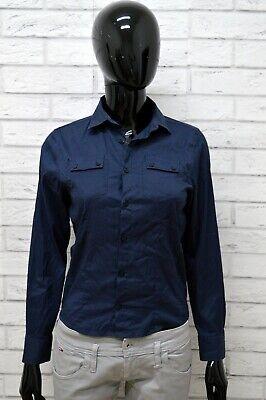 Camicia Daniele Alessandrini Donna Taglia S Maglia Blusa Shirt Woman Cotone Blu Attraente E Durevole