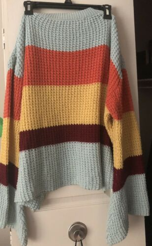 Womans  Oversized multi color Xl  Vintage sweater