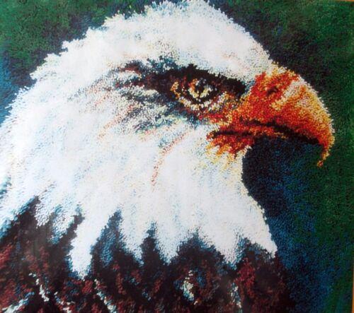 """MCG TEXTILES BIRD LATCH HOOK  RUG   KIT /"""" AN EAGLE RUG/"""""""