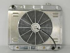 1963 1964 1965 1966 Chevy GMC Pickup Truck Aluminum Radiator + Shroud and Fan