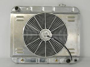 SHROUD AND FAN 1963 1964 1965 1966 CHEVY GMC PICKUP TRUCK ALUMINUM RADIATOR