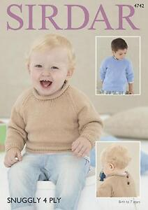 d85c143876b8 Sirdar 4742 Knitting Pattern Baby   Childrens Sweaters in Sirdar ...