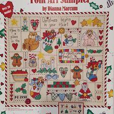 Christmas in Your Heart Folk Art Sampler Cross Stitch Leaflet Gloria & Pat L34