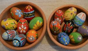 Hand painted wooden easter eggs egg decorations set gift no image is loading hand painted wooden easter eggs egg decorations set negle Image collections