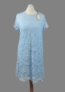 Lipsy-Blue-Lace-Shift-Dress-Size-8-uk-rrp-48-CR098-AA-19