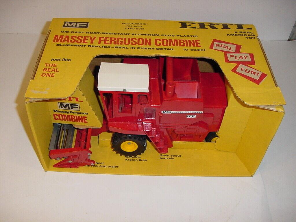 1 20 Jahr Massey Ferguson 760 Combine by ERTL W Gelb Wheels & Gelb Box