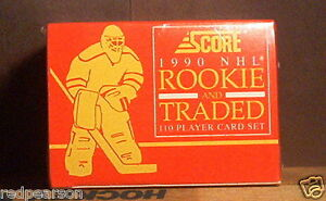 1990-1991-90-91-SCORE-ROOKIE-UPDATE-TRADED-SET-HOCKEY-JAGR-LINDROS